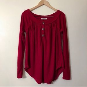 free people | we the free | red long sleeve